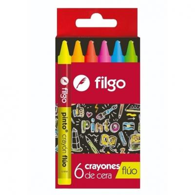 CRAYONES X6PINTO FLUO FILGO