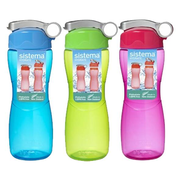 645ML HOURGLASS BOTTLE ASTDA