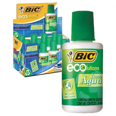 CORRECTOR PINCEL BIC AQUA ECO 18ML