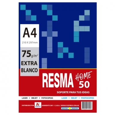 RESMA HOME 50 HOJAS BLANCAS A4
