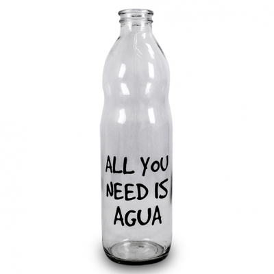 BOTELLA 1LTS ALL YOU NEED IS AGUA