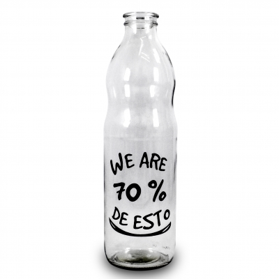 BOTELLA 1LTS WE ARE 70% DE ESTO