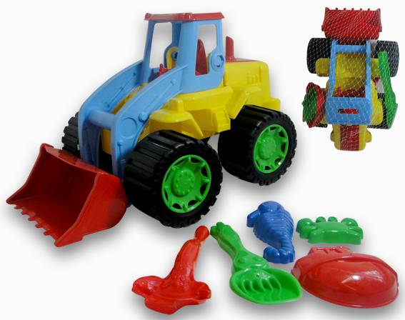 JUEGO ARENA TRACTOR C/ACC 7 PZS RED 40CM