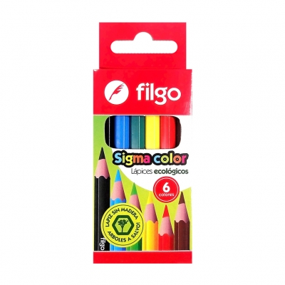 LAPICES COLOR X6 FILGO CORTO