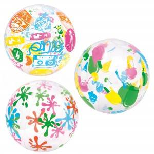 PELOTA INFLABLE ESTAMPADA 40CM