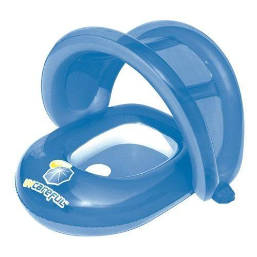 BOTE INFLABLE C/TECHO P/BEBE 79X84CM