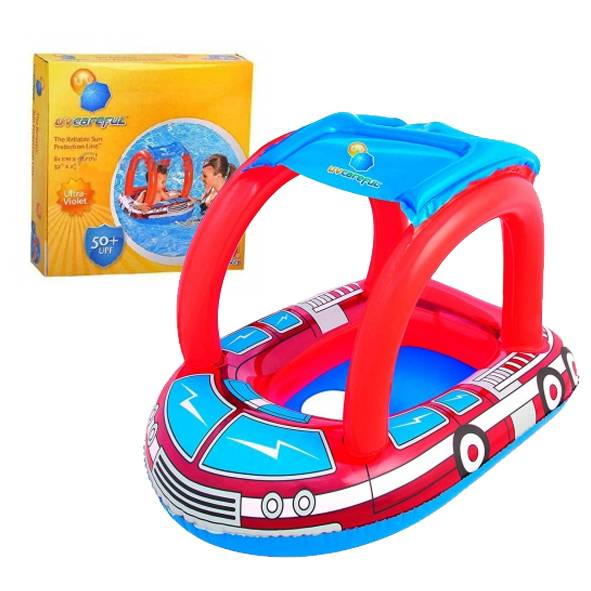 BOTE INFLABLE C/TECHO P/BEBES 58X80